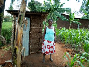The Water Project:  Mrs Chera And Her New Latrine