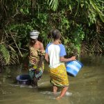 The Water Project: Kigbal Community -  Fetching Water