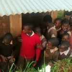 The Water Project: Mwanzo Primary School -  Girls Latrine Line