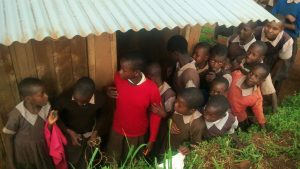The Water Project:  Girls Latrine Line