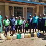 The Water Project: Shitsava Primary School -  Lined Up At The Unreliable Tap