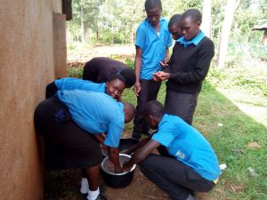 The Water Project:  Students Helping Prepare Lunch
