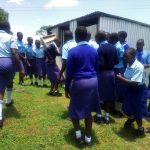 The Water Project: Eshisenye Girls Secondary School -  Rush To The Latrines