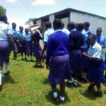 The Water Project: Eshisenye Girls' Secondary School -  Rush To The Latrines