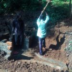 The Water Project: Irenji Community, Shianda Spring -  Spring Construction
