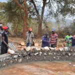 The Water Project: Kyanzasu Secondary School -  Tank Construction