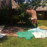 The Water Project: Ataku Community, Ataku Spring -  Clothes Drying
