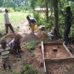 The Water Project: Shikoti Community A -  Sanitation Platform Construction