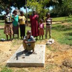 The Water Project: Mulundu Community -  Finished Sanitation Platform