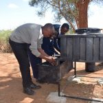 The Water Project: Kyanzasu Secondary School -  Hand Washing Stations