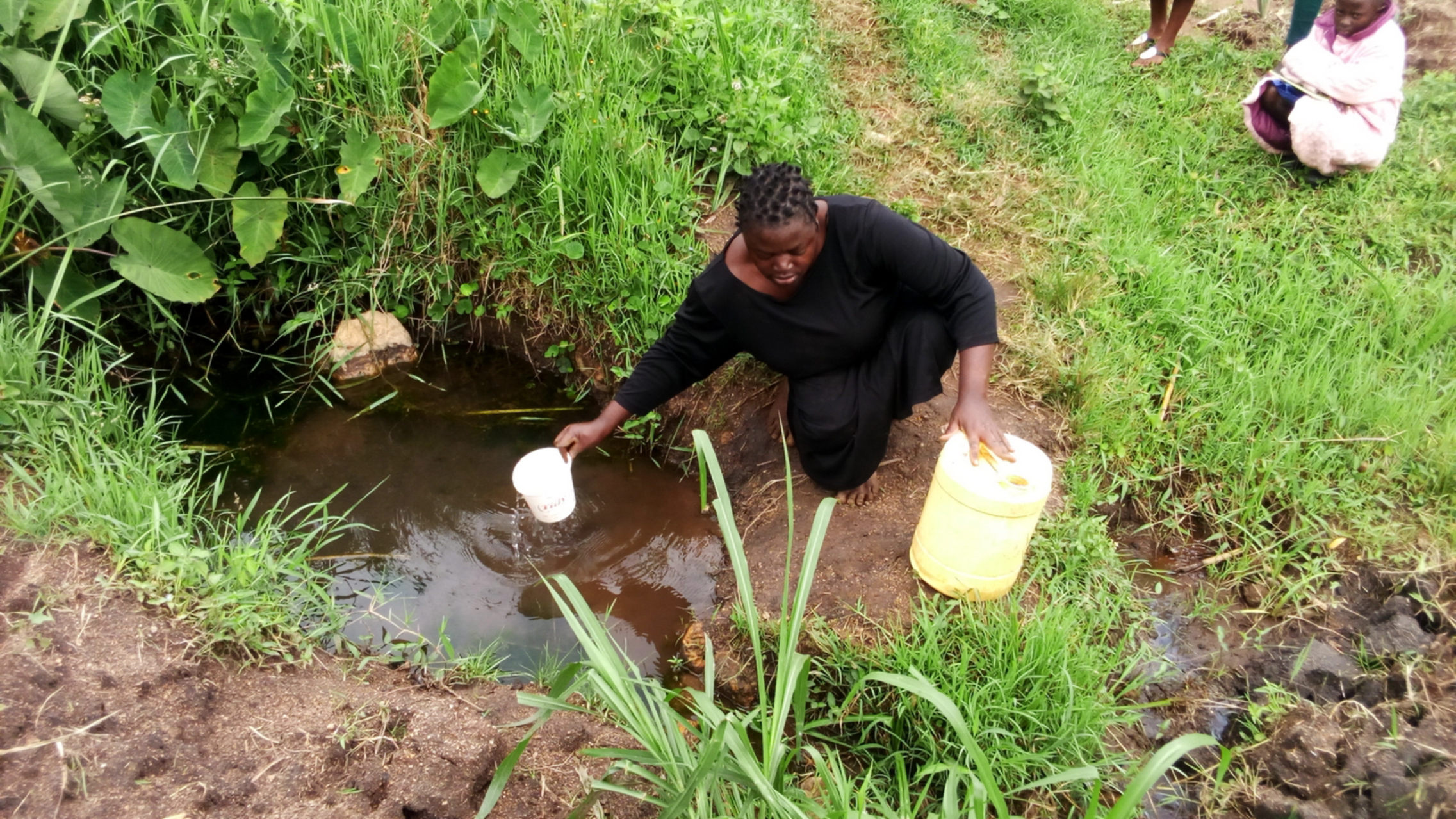 The Water Project : 2-kenya18097-current-water-source