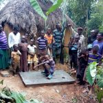 The Water Project: Shikoti Community, Amboka Spring -  Sanitation Platform