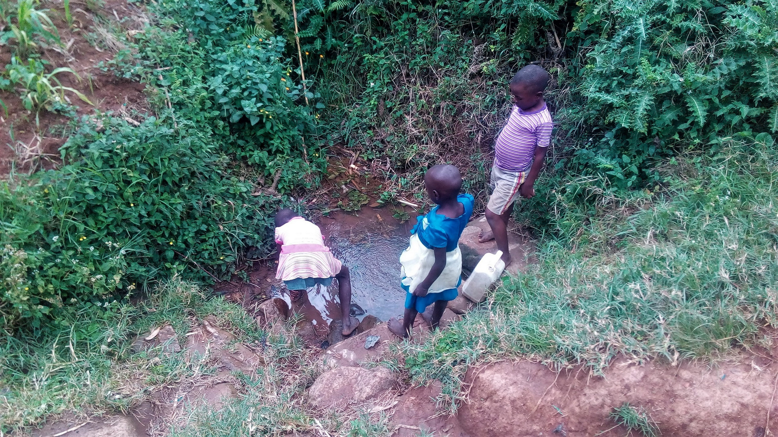 The Water Project : 3-kenya18091-fetching-water