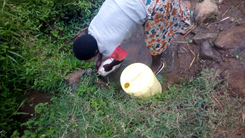 The Water Project : 3-kenya18108-fetching-water