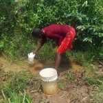 The Water Project: Ataku Community, Ataku Spring -  Fetching Water