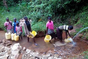 The Water Project:  Community Members Fetching Water
