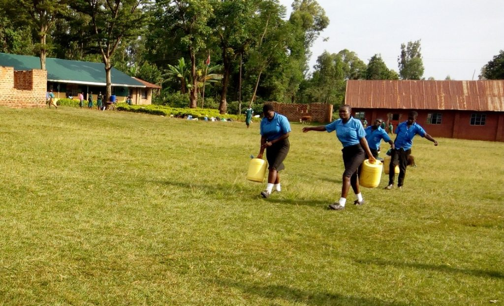 The Water Project : 4-kenya4670-students-carrying-water