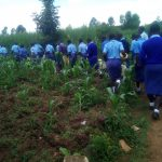 The Water Project: Eshisenye Girls Secondary School -  Off To Fetch Water
