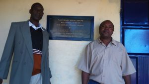 The Water Project:  Senior Teacher Douglas Awana And Deputy Headteacher Alusiola
