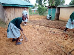 The Water Project:  Students Preparing Drainage For Overflowing Latrines