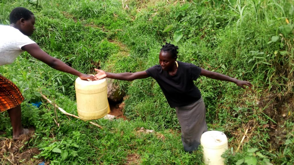 The Water Project : 7-kenya18113-helping-each-other