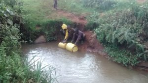 The Water Project:  Students Fetching Water At A Flowing River