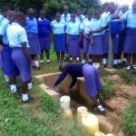 The Water Project: Eshisenye Girls Secondary School -  Fetching Water