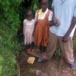 The Water Project: Musango Community A -  Mr Jared And Some Of His Children