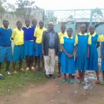 The Water Project: Chebunaywa Primary School -  Students At Entrance