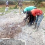 The Water Project: Shisango Secondary School -  Well Pad Construction