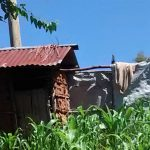 The Water Project: Ulagai Community, Aduda Spring -  Latrine