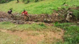 The Water Project:  Digging Drainage