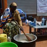 The Water Project: Kyumbe Community A -  Making Soap