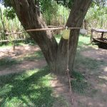 The Water Project: Futsi Fuvili Community, Simeon Shimaka Spring -  Hand Washing Station