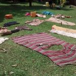 The Water Project: Ulagai Community, Aduda Spring -  Clothes Drying