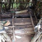 The Water Project: Emwanya Community, Josam Kutsuru Spring -  Dangerous Latrine Floor