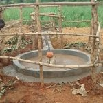 The Water Project: Rwentale-Kyamugenyi Community -  Well Pad Work