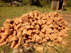 The Water Project:  Bricks Collected For Construction