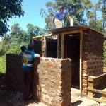 The Water Project: Iyenga Primary School -  Latrine Construction