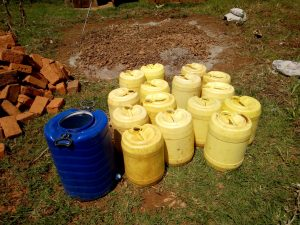 The Water Project:  Water Collected For Construction
