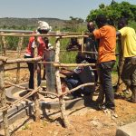 The Water Project: Rwentale-Kyamugenyi Community -  Pump Installation