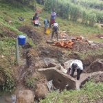 The Water Project: Kakubudu Community, Fred Lagueni Spring -  Spring Construction
