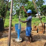 The Water Project: Benke Community, Waysaya Road -  Flushing The Well