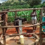 The Water Project: Maiha-Kayanja Community -  Pump Installation
