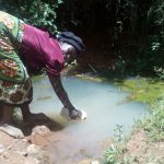 The Water Project: Wasenje Community, Margaret Jumba Spring -  Fetching Water