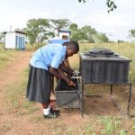 The Water Project: Ikaasu Secondary School -  Hand Washing Station