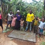 The Water Project: Kakubudu Community, Fred Lagueni Spring -  Sanitation Platform