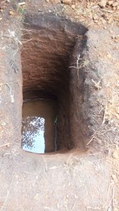 The Water Project:  Pit Dug For Sanitation Platform