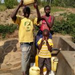 The Water Project: Kakubudu Community, Fred Lagueni Spring -  Clean Water