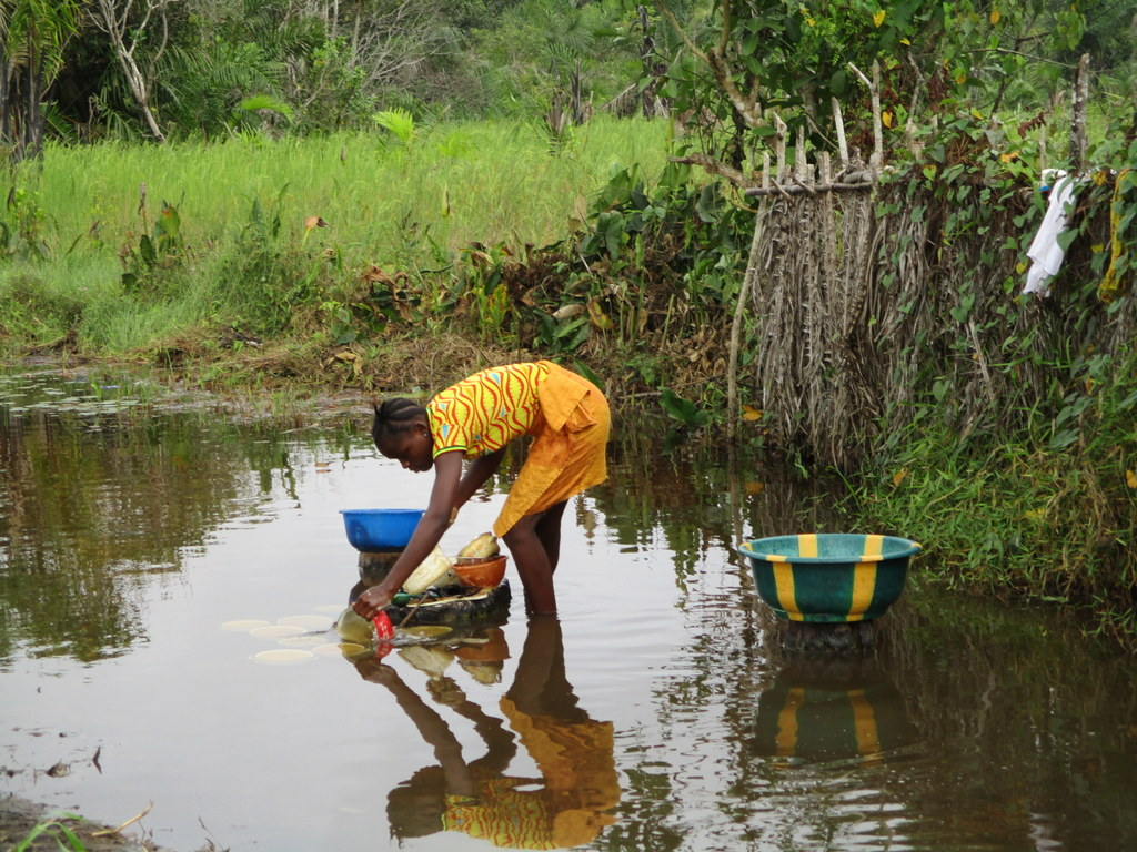 The Water Project : 3-sierraleone18249-fetching-swamp-water